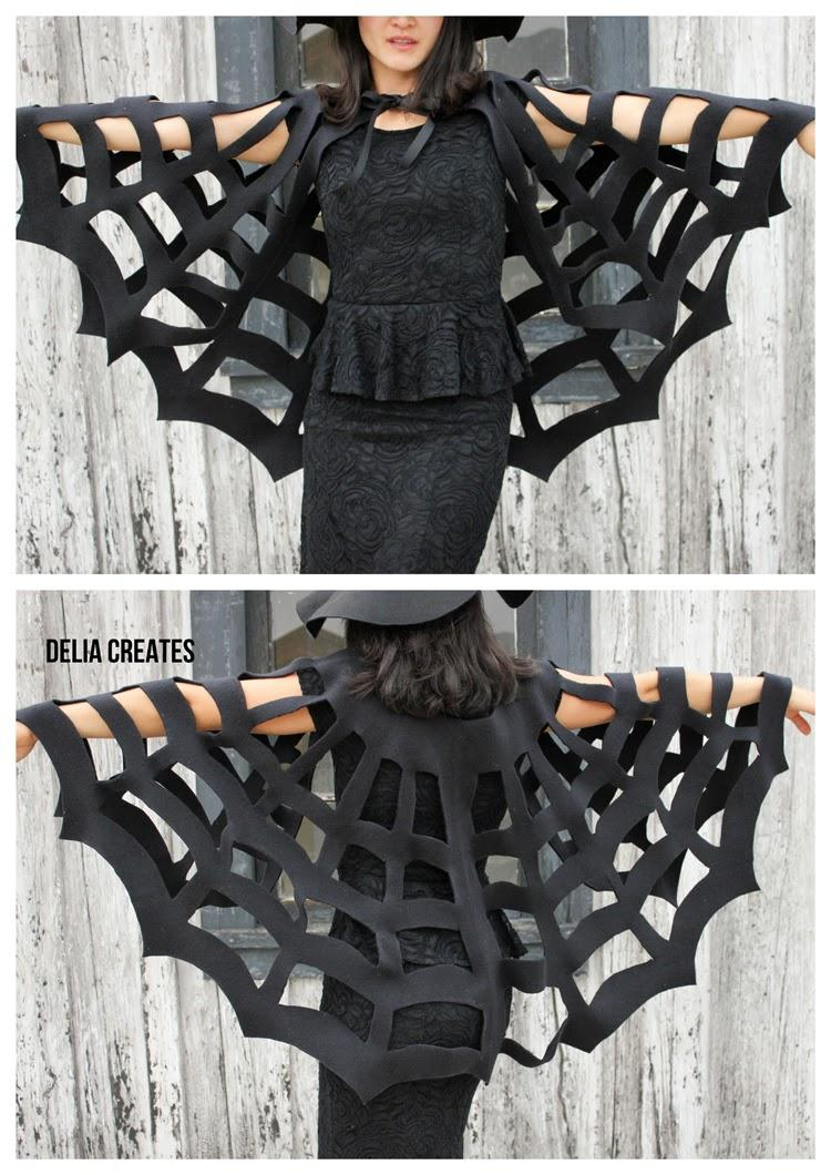 No sew Halloween spider cape costume