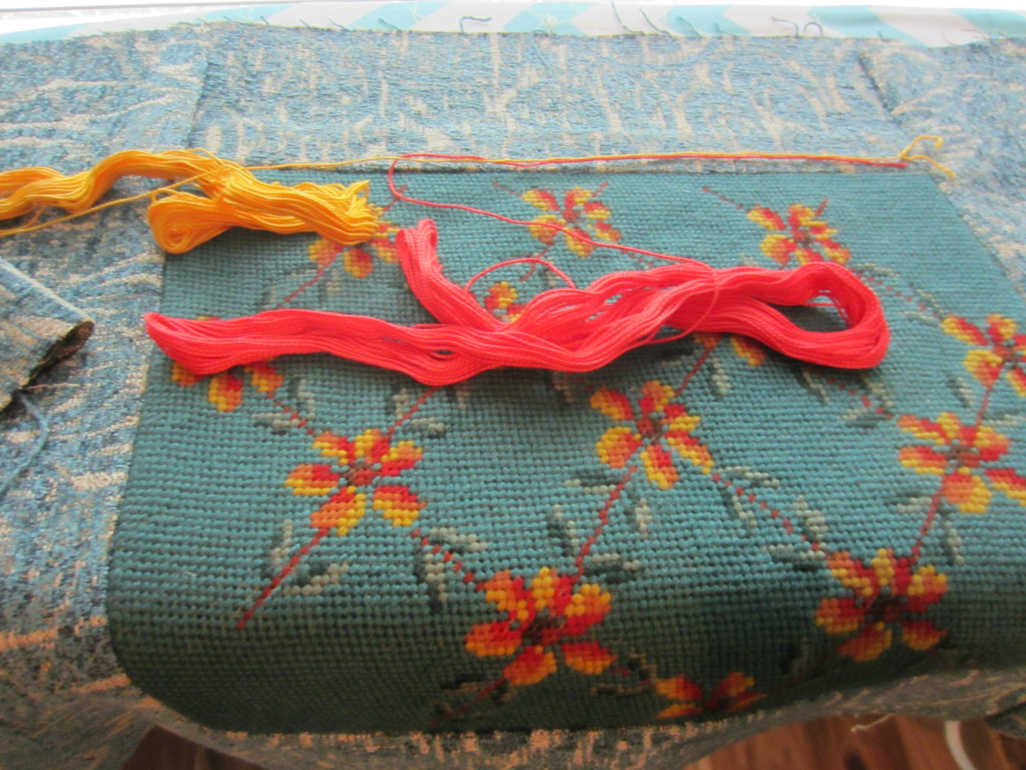 Adding embroidery embellishments to the pillow top