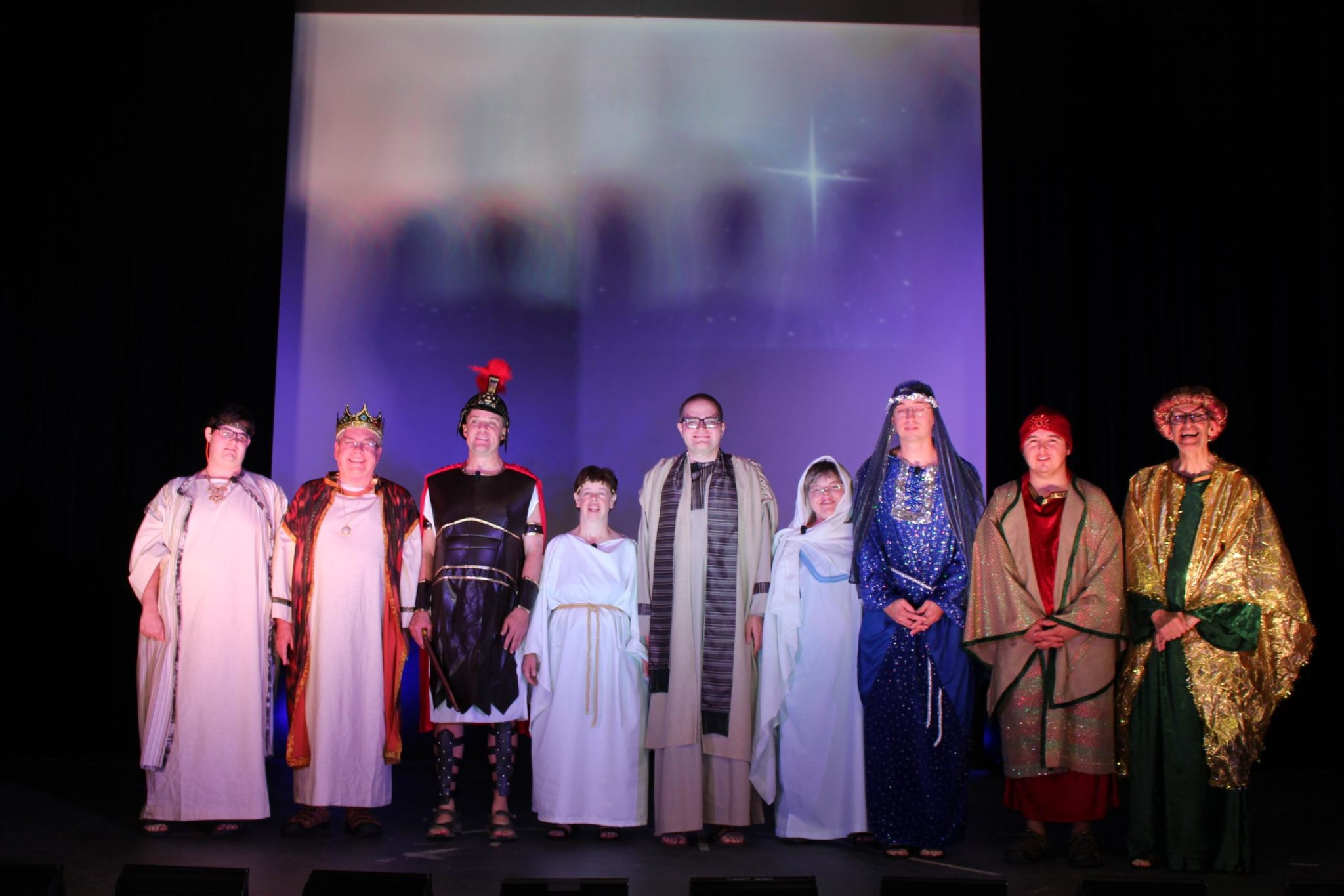 The entire cast, include the wise men
