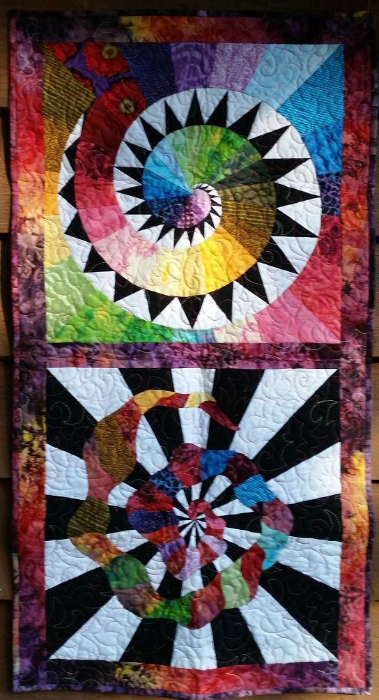 Cosmic Spirals quilt