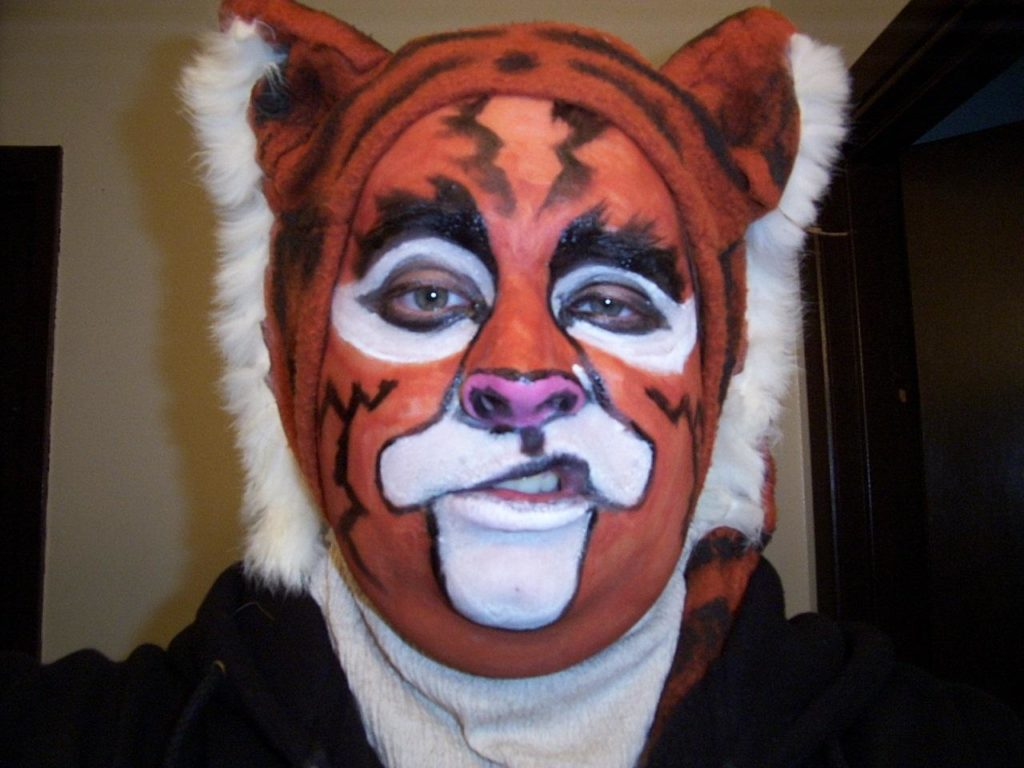Shere Khan Tiger Costume and face painting