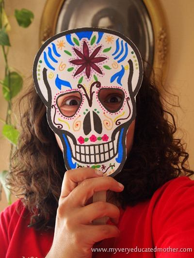 Day of the dead printable mask