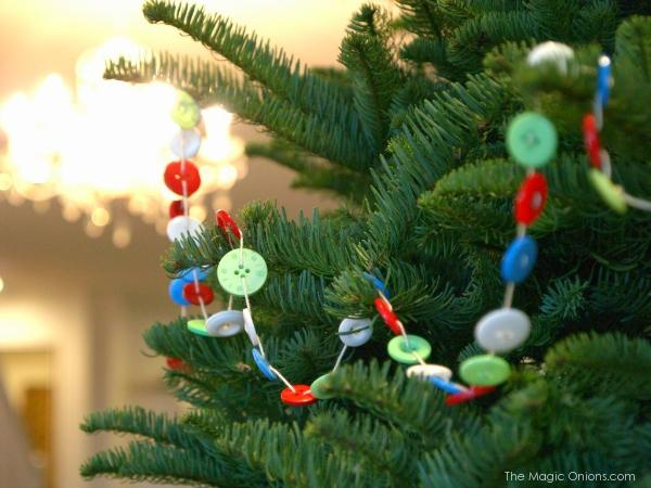 Button garland for tree