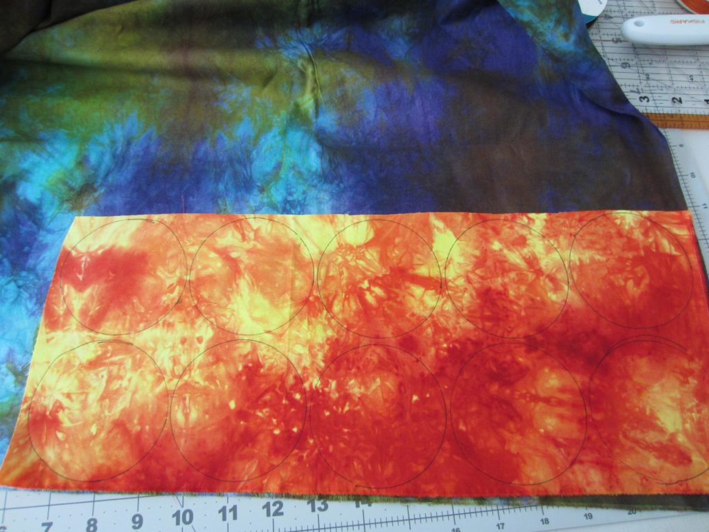 The fabrics I choose for the two sides of the fabric fortune cookies