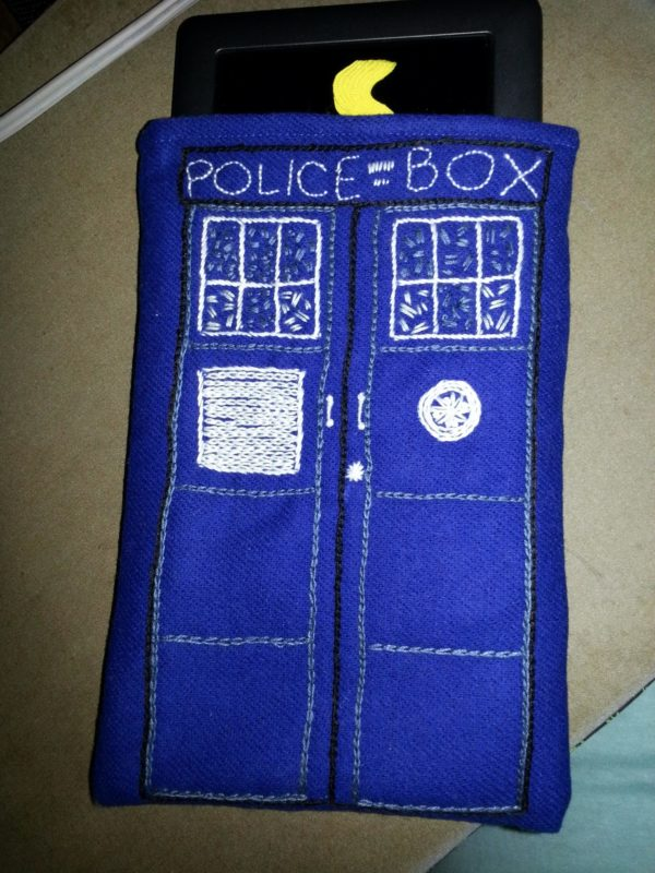 TARDIS ereader cover