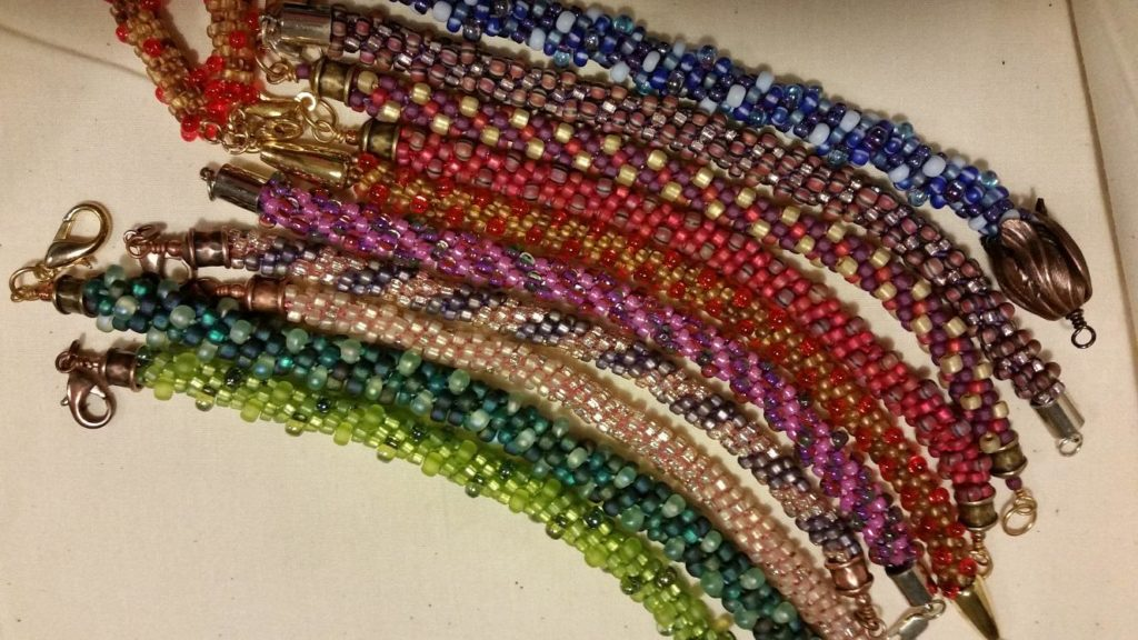 Kumihimo bracelets
