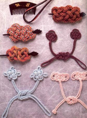 Garment and hair closures made from kumihimo