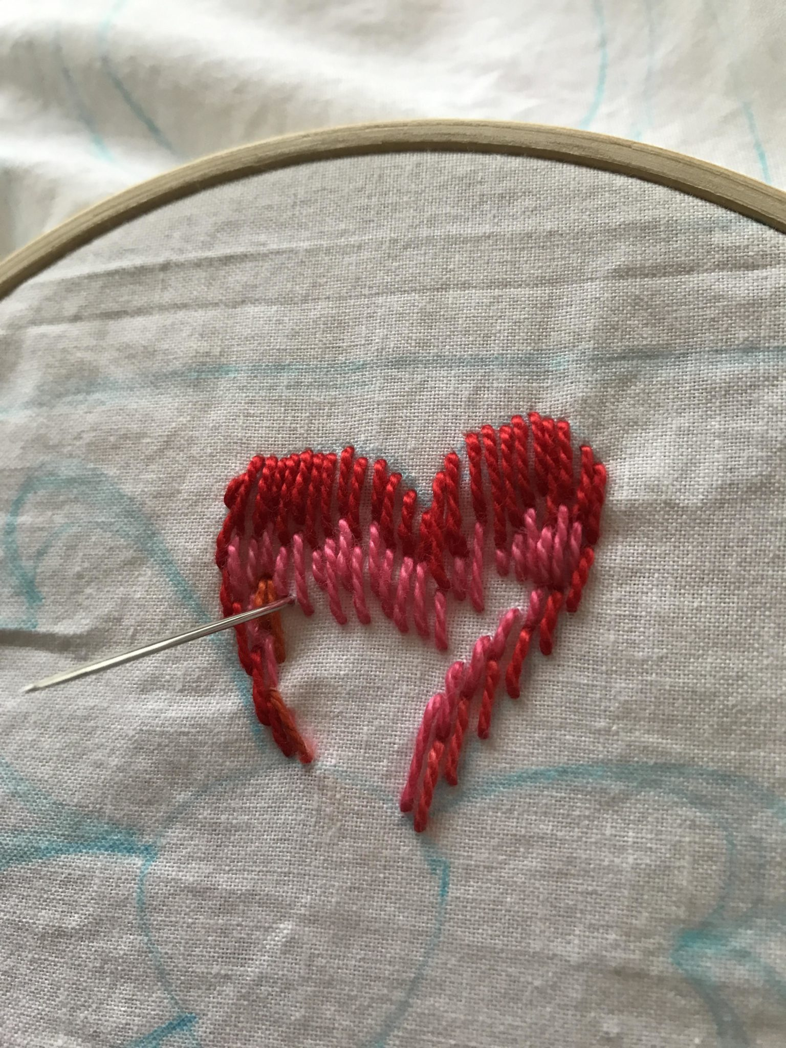 Embroidery: Long and Short Stitch