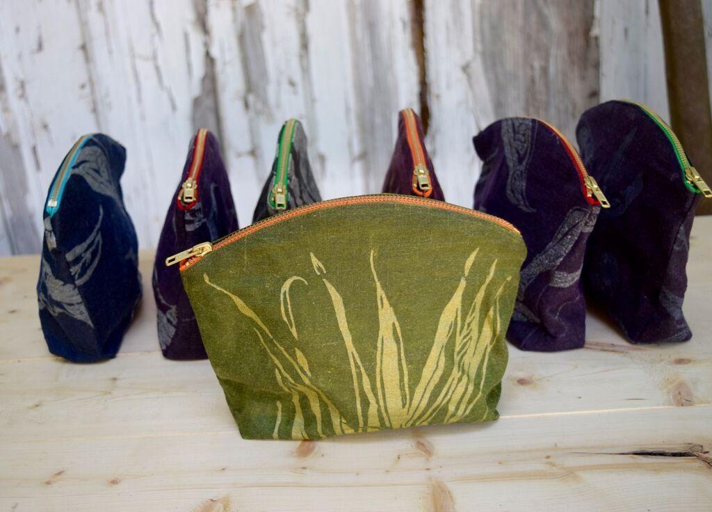 Velvet zipper bags