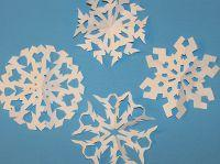 Classic fold and cut snowflakes