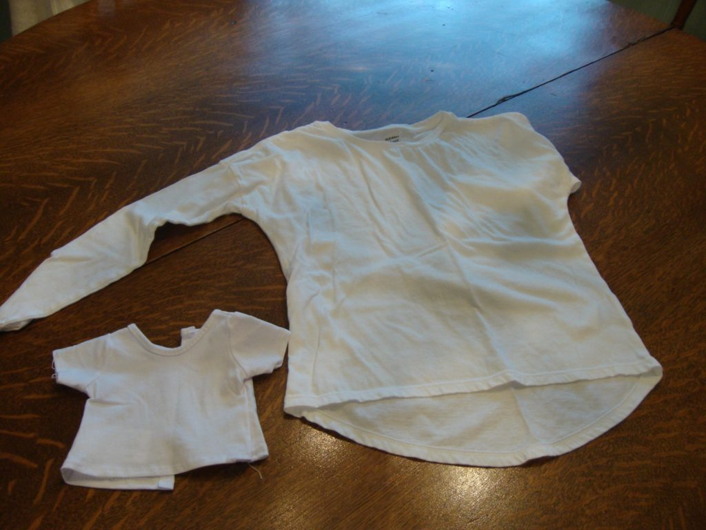 Basic white tee for the girl and her doll