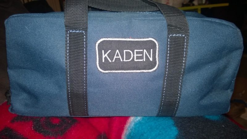 Finished Kaden's Custom Tool Bag