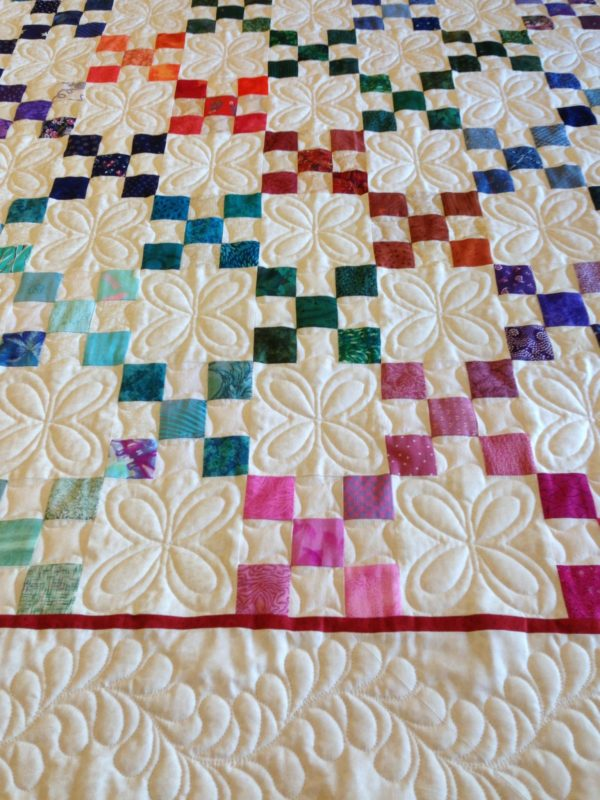 Finished longarm quilting on Lane's Quilt