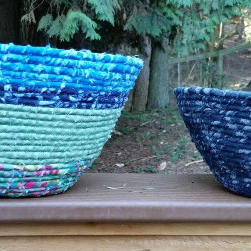 Fabric Coil Baskets and Bowls