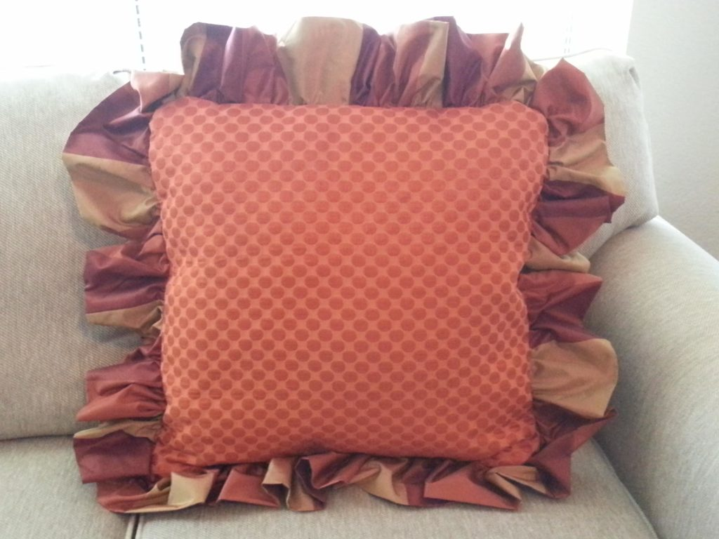 Finished Big Ruffle Pillow