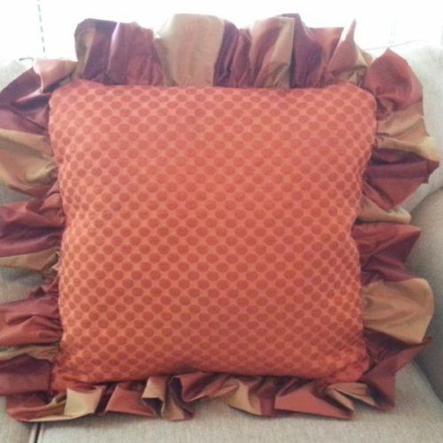 Finished Big Ruffle Pillow