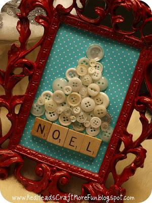 ivory button framed christmas tree