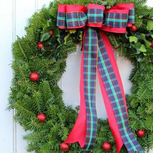 Traditional Natural Wreath by Fynes Designs
