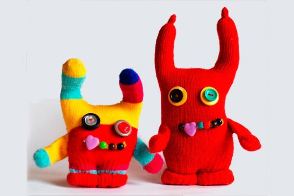 Funky glove monsters