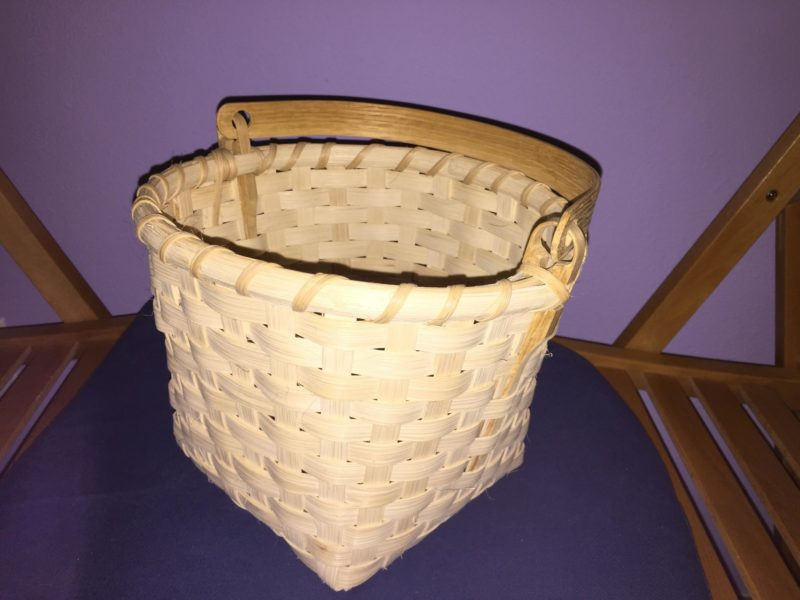 Another picture of the finished basket