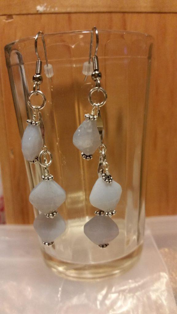 Dangling Chalcedony Earrings