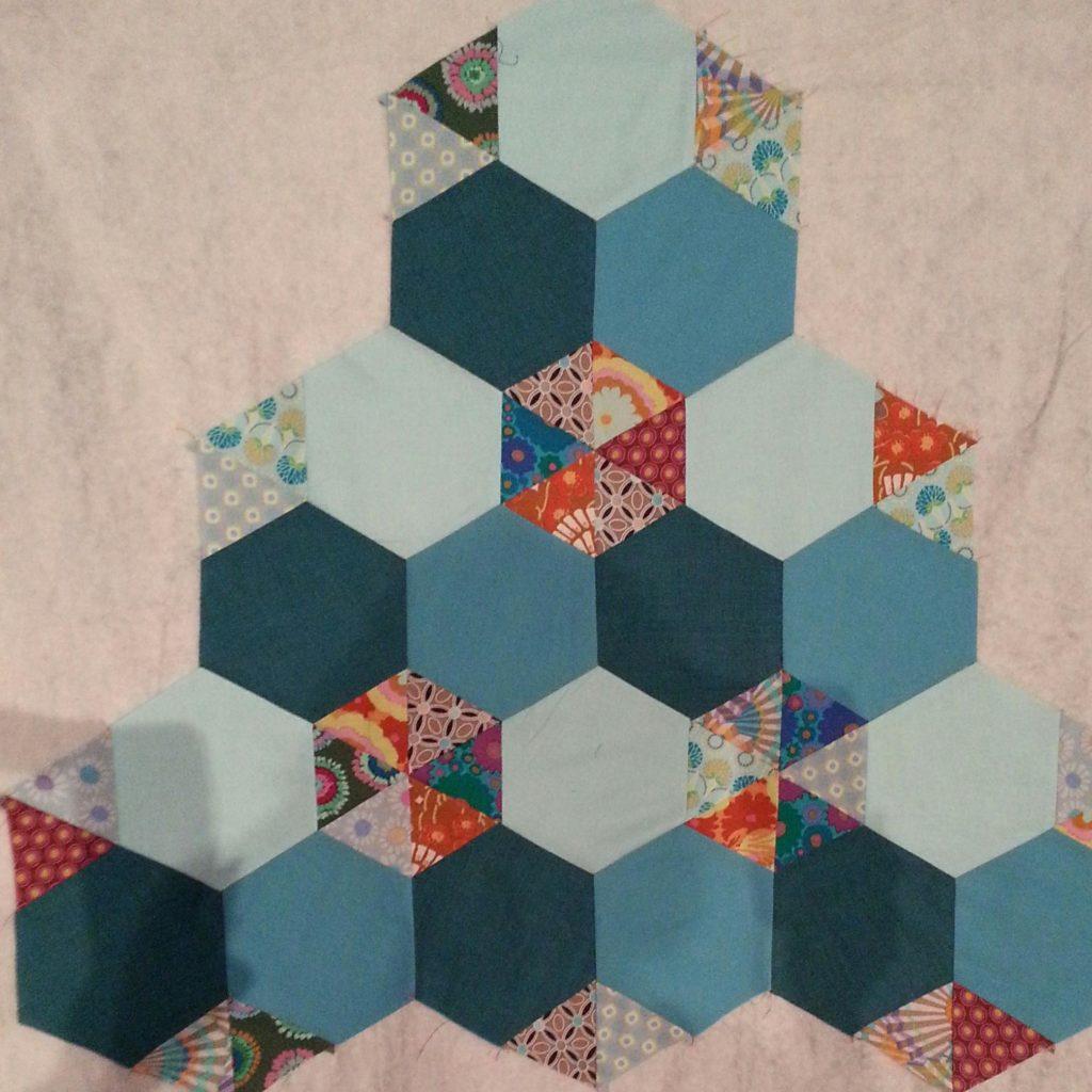 Scrappy Hexagon Quilt