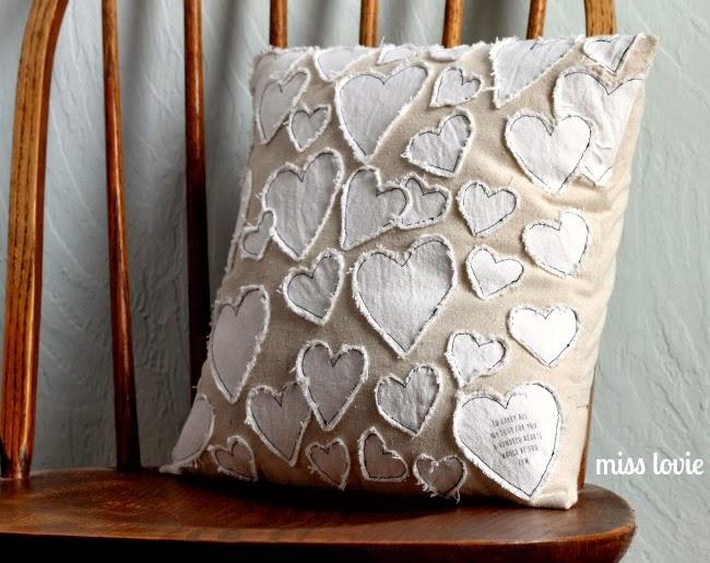 DIY Heart Throw Pillows