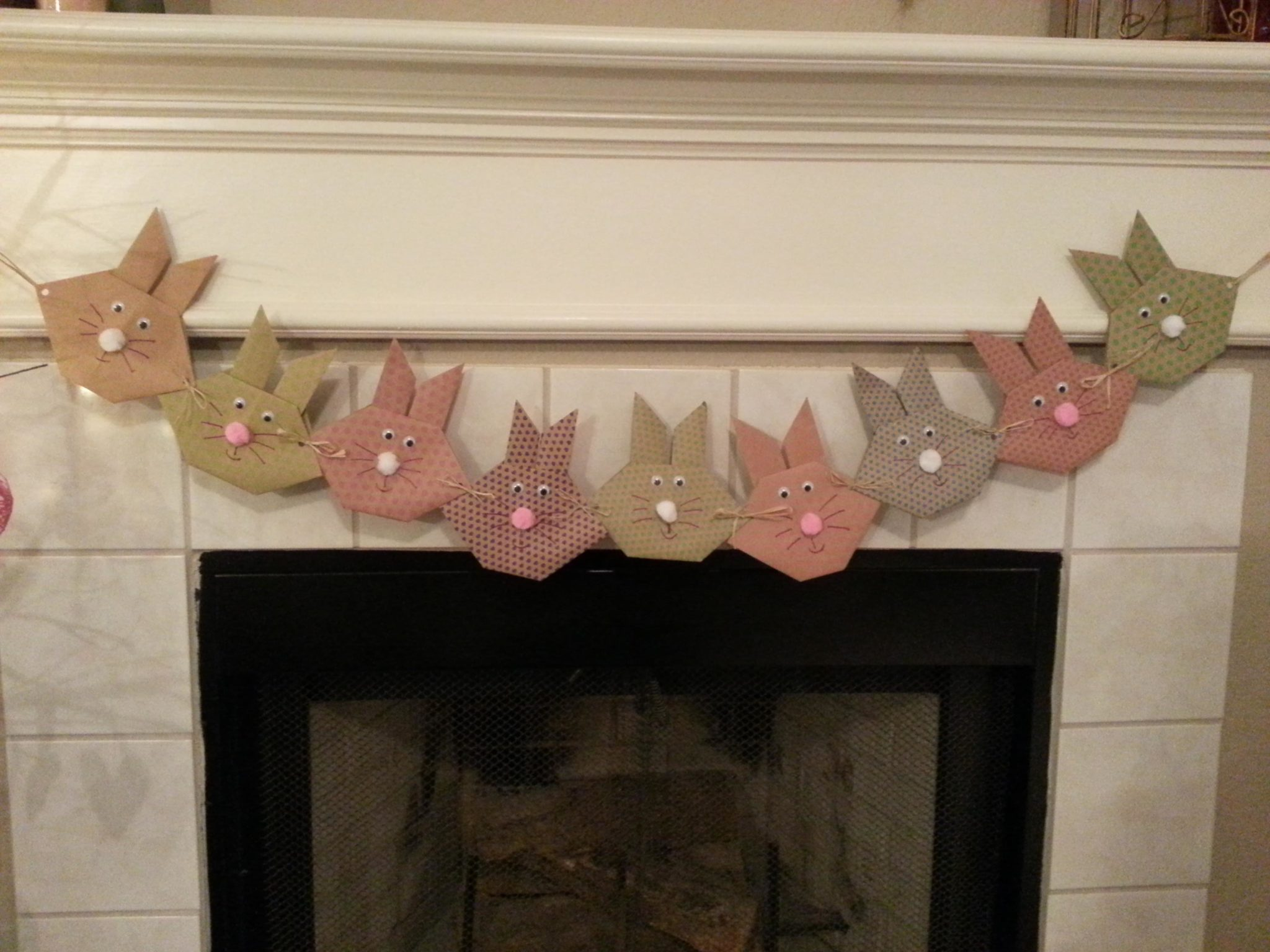 Easter Bunny Origami Banner