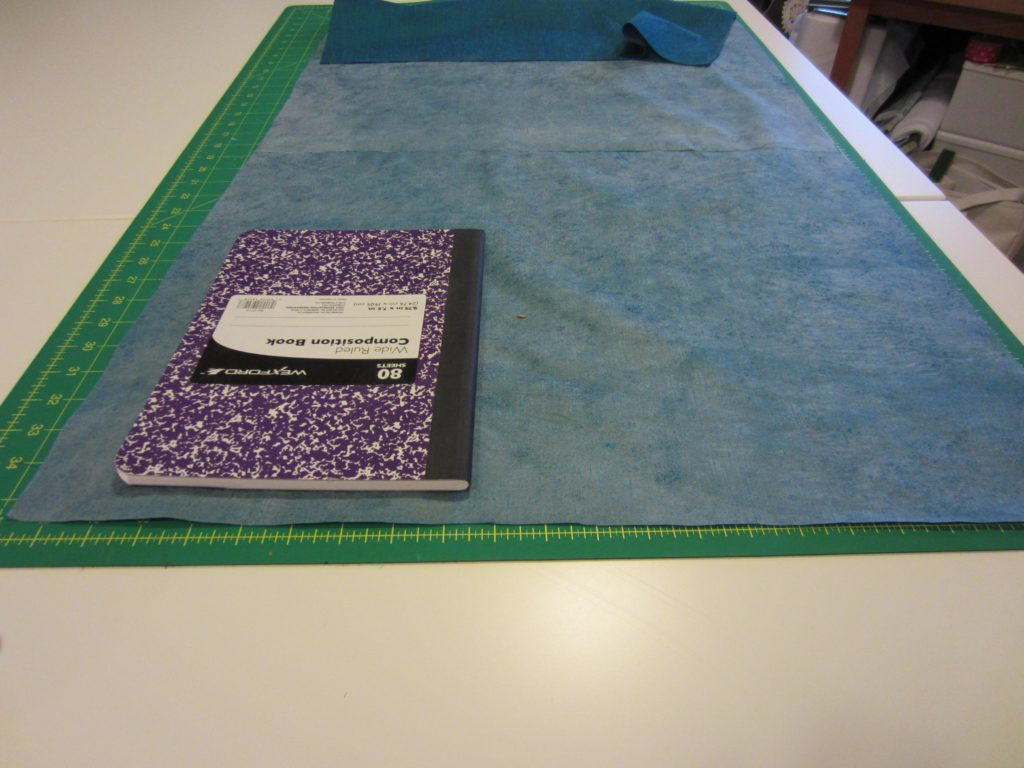 Cutting the fabric for the journal