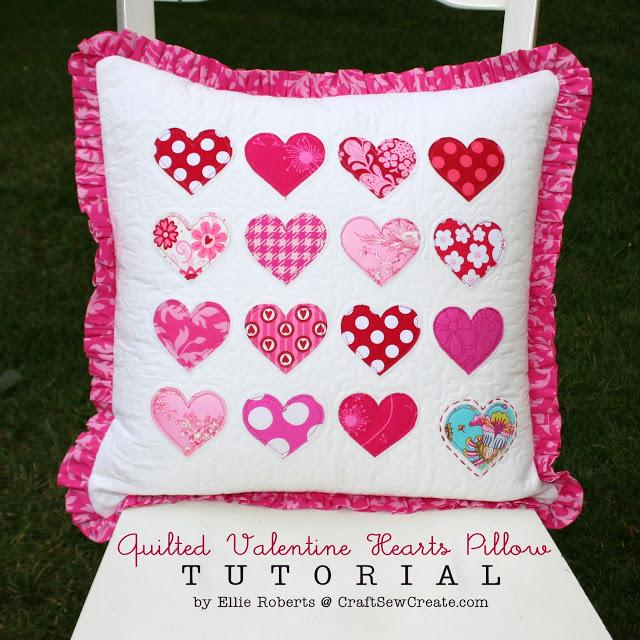 quilted valentine hearts