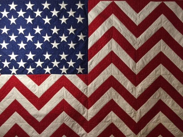 Pledge of Allegiance Flag Quilt