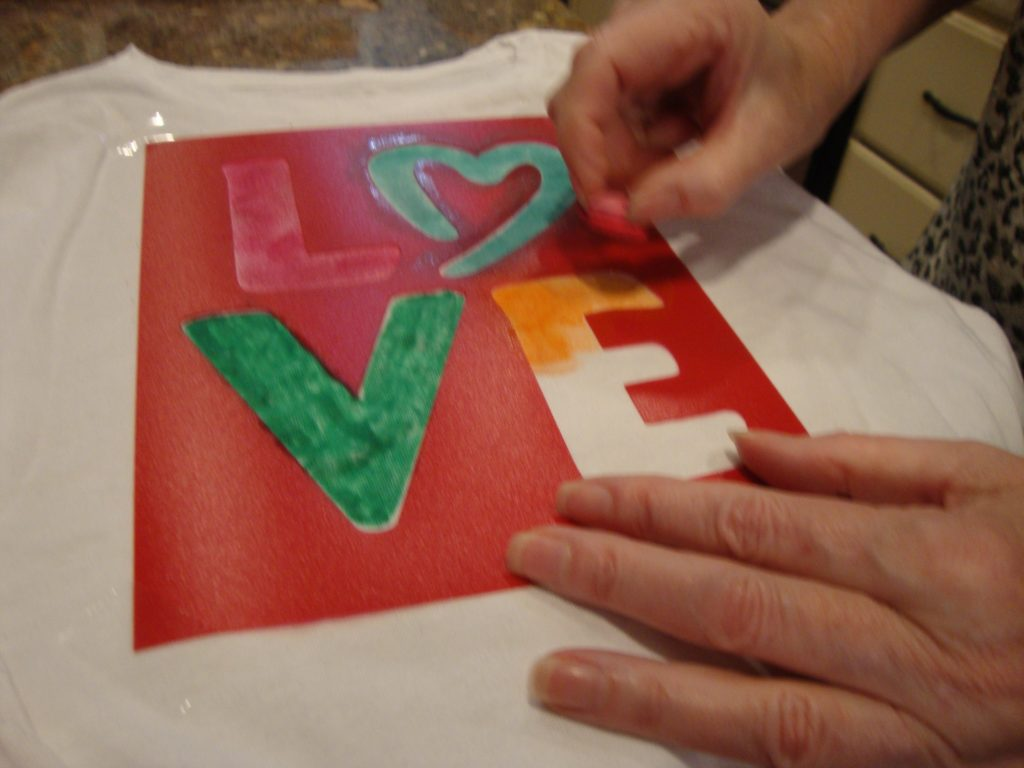 Stamping through the stencil