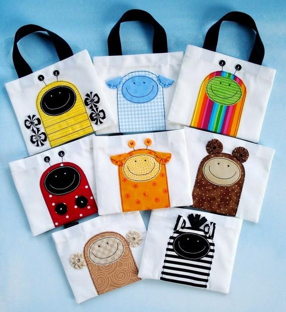 Applique trick or treat bags by Precious Patterns