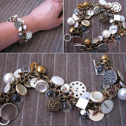 Bracelet made from left over buttons