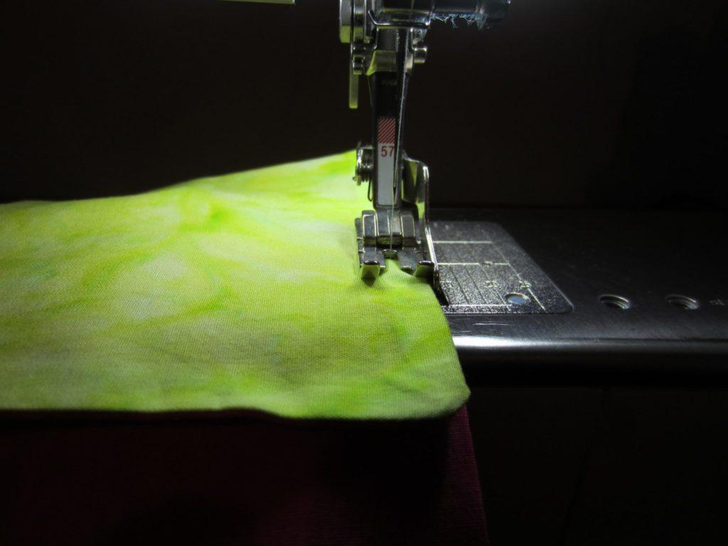 Top stitch around the entire edge