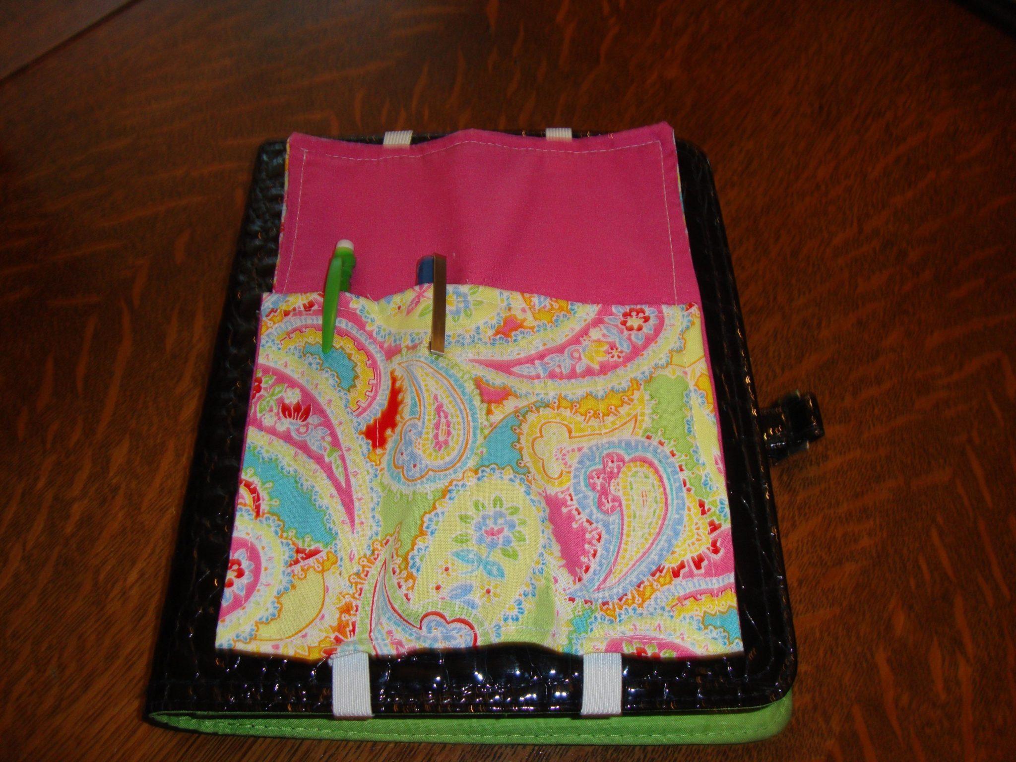 Pink Paisley pen quiver