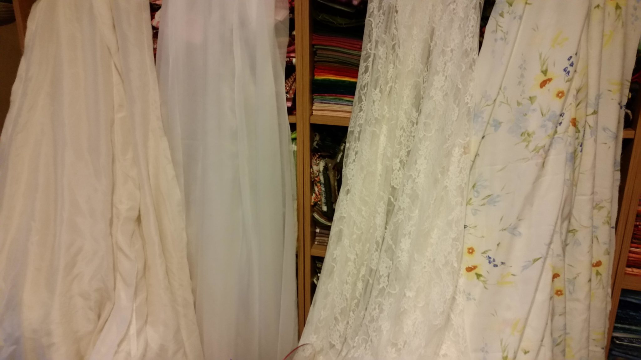 4-Layer Wedding Gown the 4 skirt layers hanging so the bias could find its natural resting place