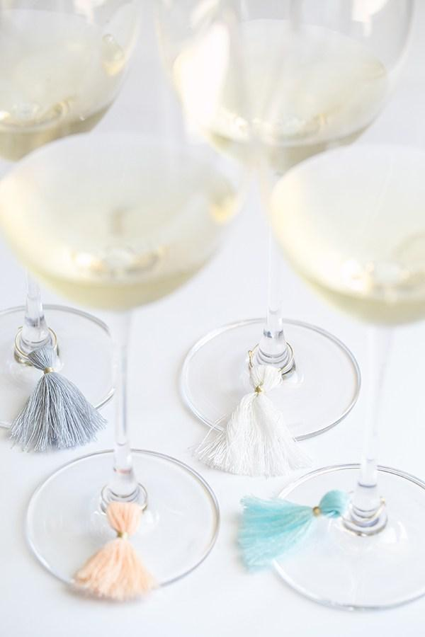 Tassel wine charms