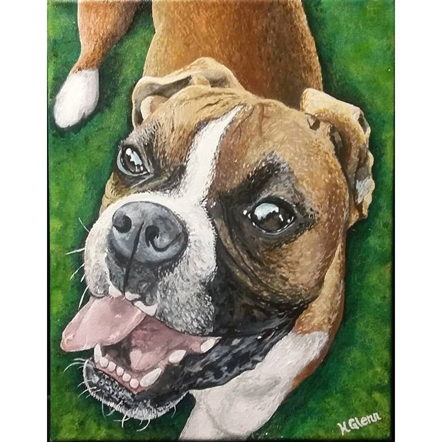 Dog portrait by Holly