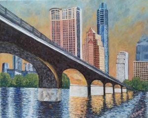 Congress Avenue bridge by Holly Glenn