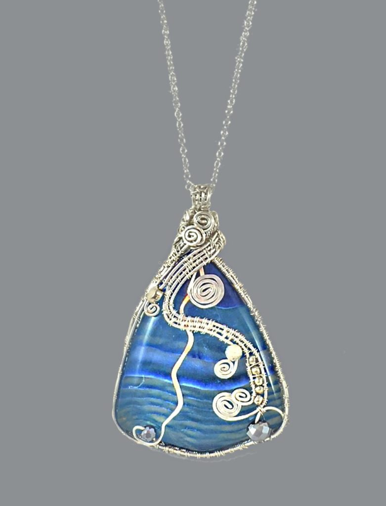 Wire wrapped necklace by Holly
