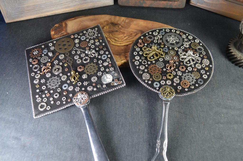 Steampunk inspired mirrors made by Troy