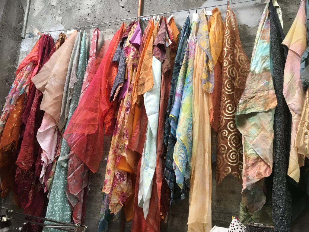 More beautiful fabrics hung to enjoy visually