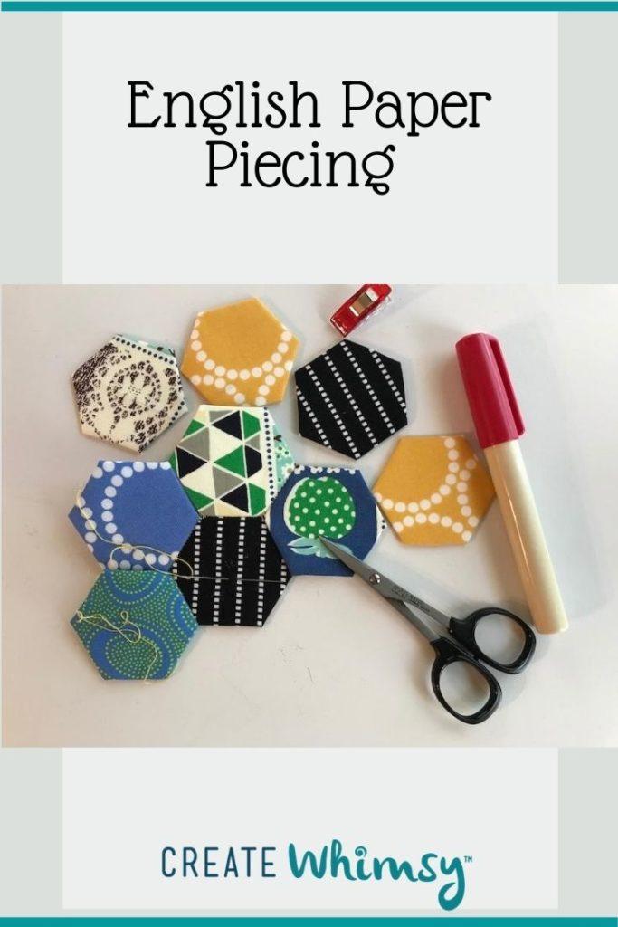 English Paper Piecing Pinterest Image
