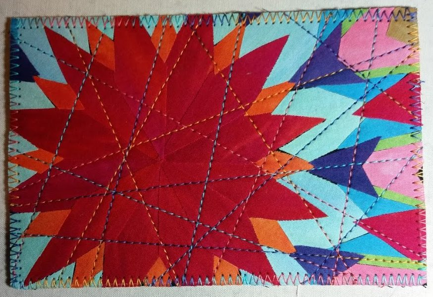 Finished Kaleidoscope postcard