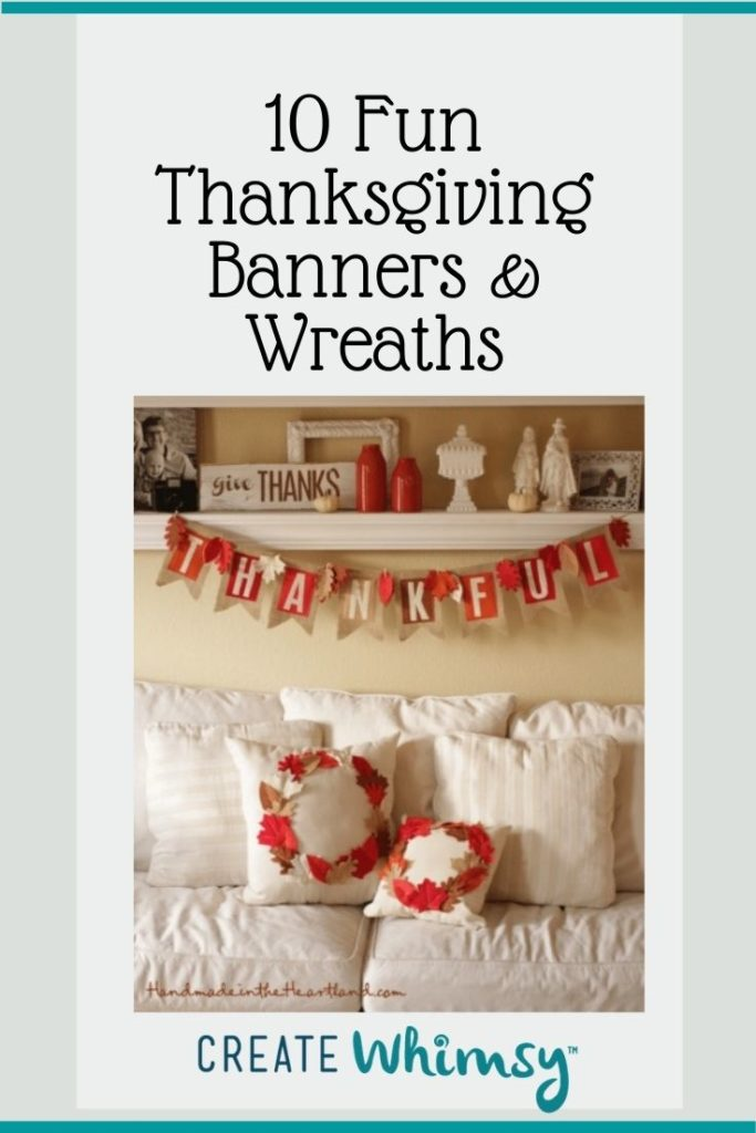 Thanksgiving Banner and Wreaths Round Up Pinterest 1