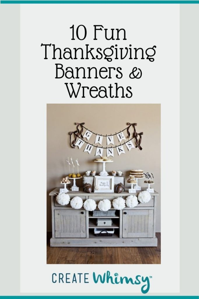 Thanksgiving Banner and Wreaths Round Up Pinterest 2
