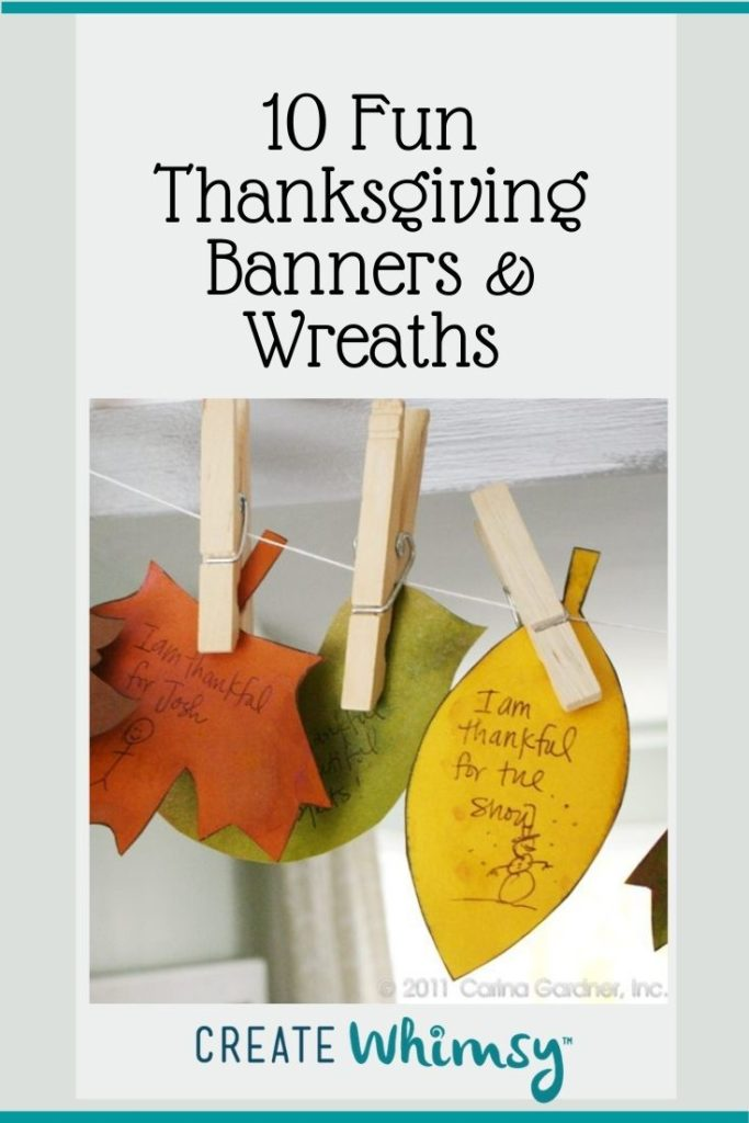 Thanksgiving Banner and Wreaths Round Up Pinterest 3