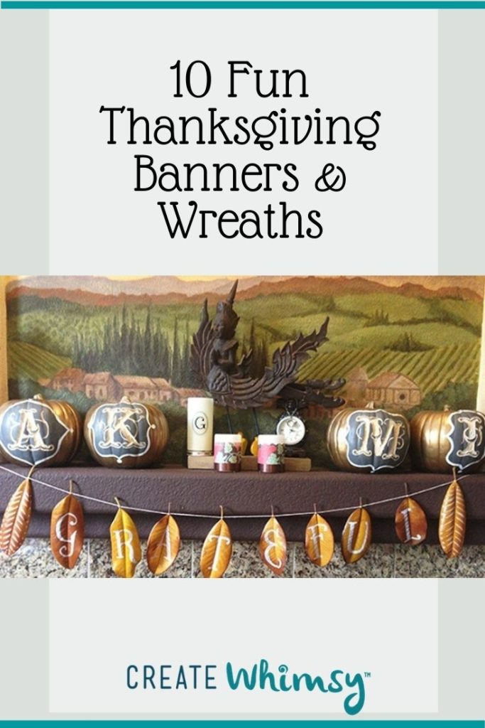 Thanksgiving Banner and Wreaths Round Up Pinterest 4
