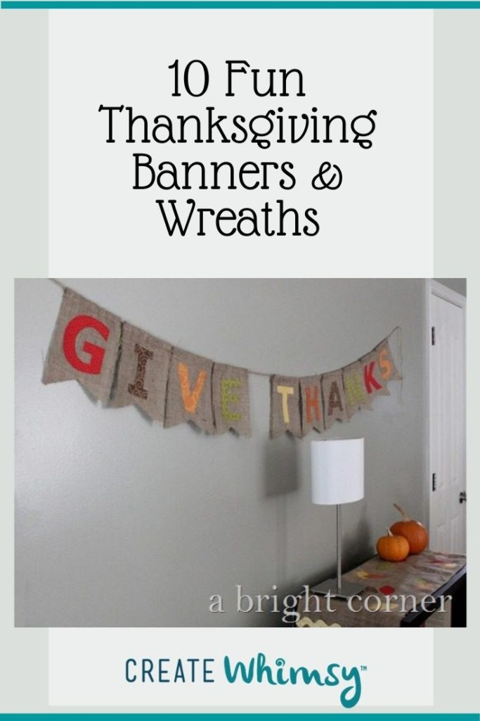 Thanksgiving Banner and Wreaths Round Up Pinterest 5